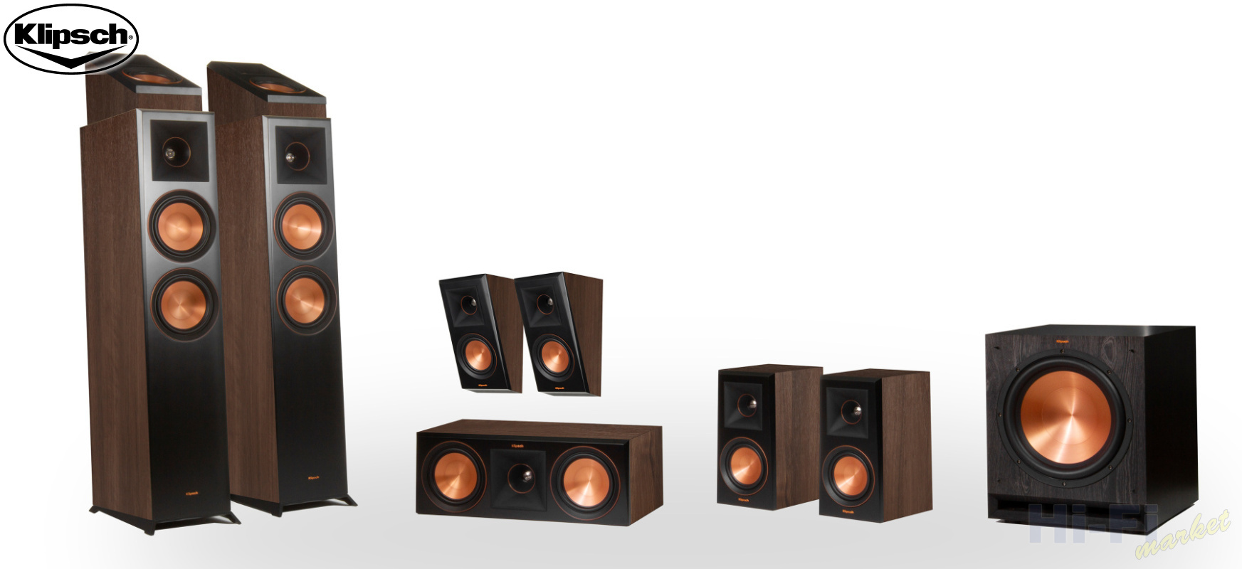 KLIPSCH Reference Premiere RP-6000F set 7.1.2 Dolby Atmos