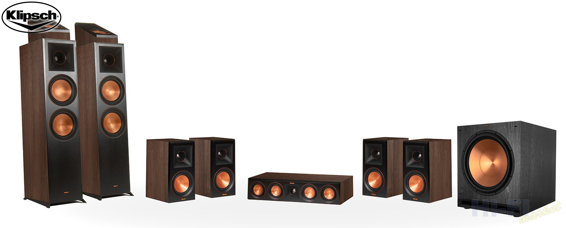 KLIPSCH Reference Premiere RP-8000F set 7.1.2 Dolby Atmos