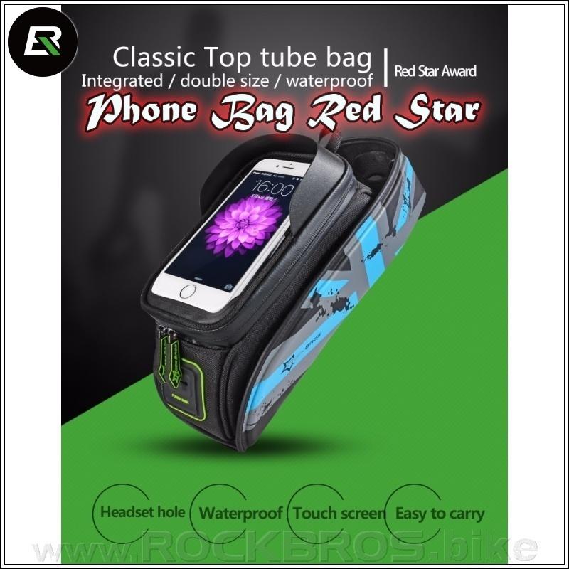 ROCKBROS Phone Bag Red Star cyklobrašna pro mobil