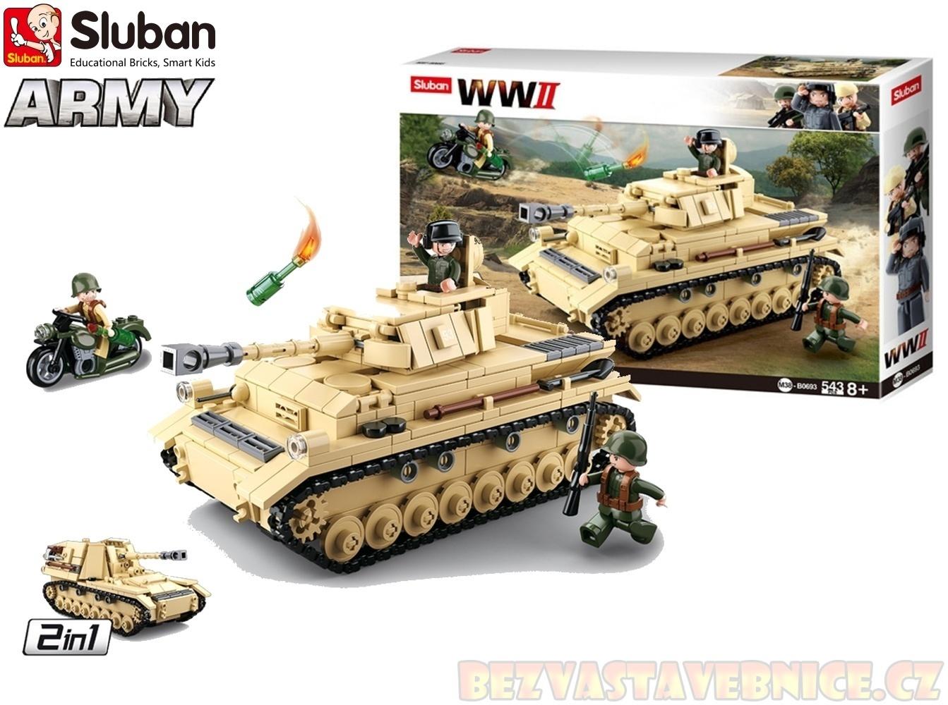 SLUBAN WW2 - Velký německý tank 2v1