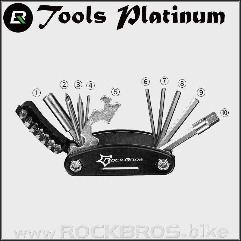ROCKBROS Tools Platinum multifunkční nářadí (16 in 1)