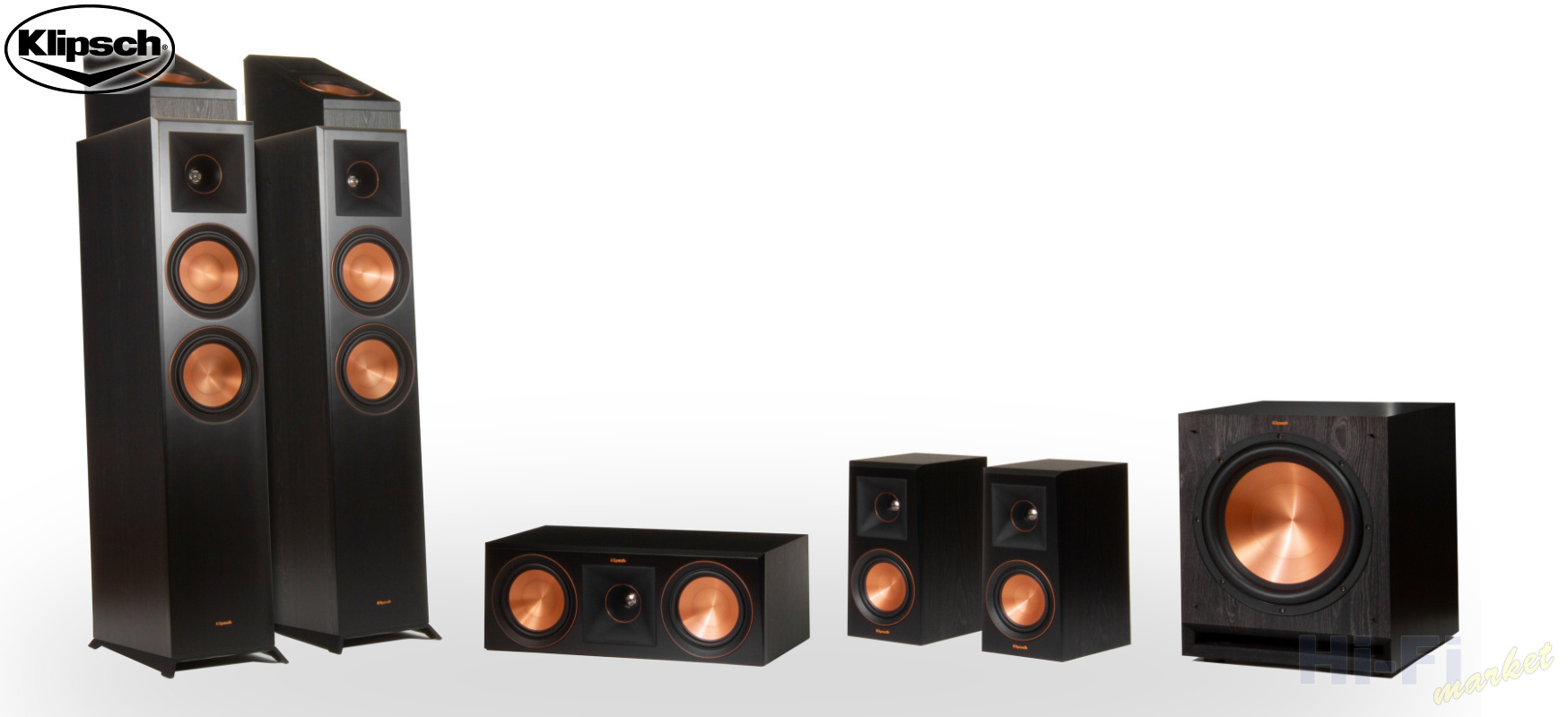 KLIPSCH RP-6000F set 5.1.2 Dolby Atmos