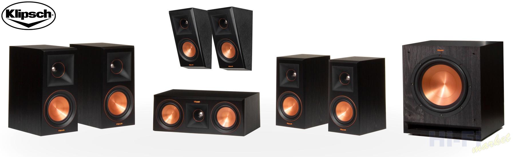 KLIPSCH RP-600M set 5.1.2 Dolby Atmos