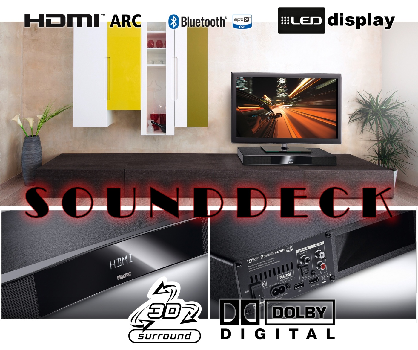 SOUNDDECK TV speakers